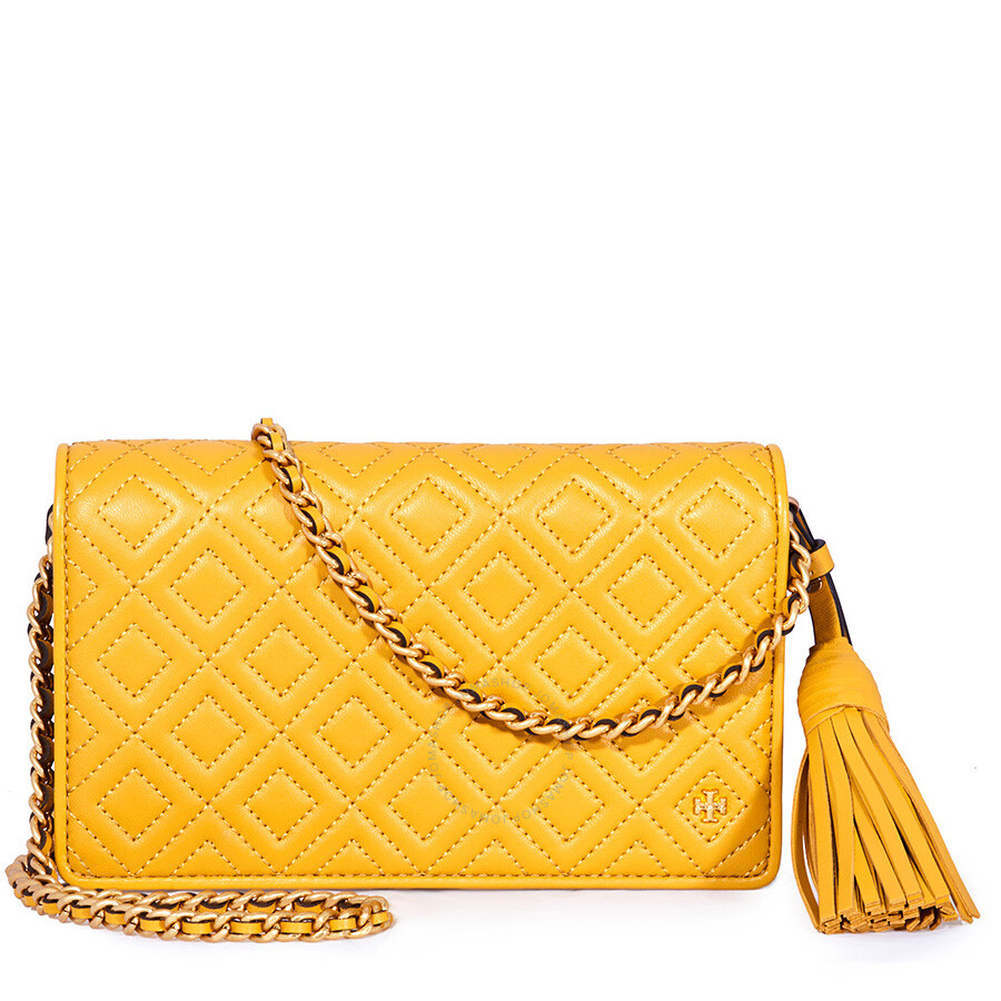 8fa04f6912a Tory Burch Fleming Flat Wallet Crossbody Bag-Yellow Item No. 46449-707