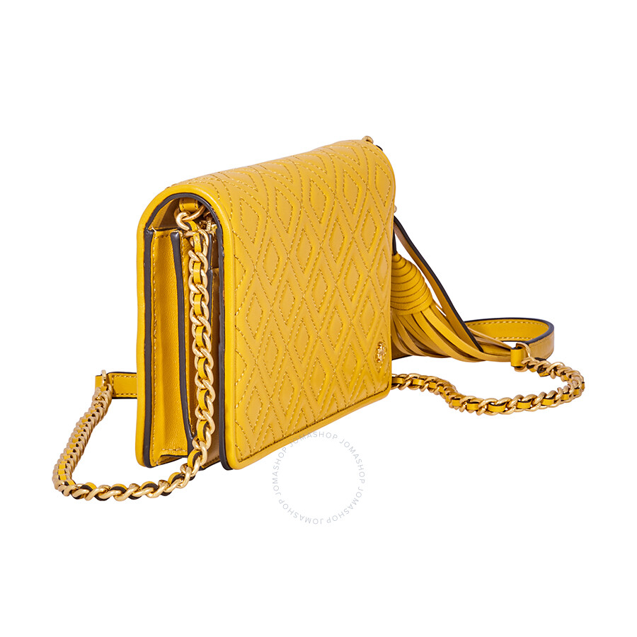 af77b3effb Tory Burch Fleming Flat Wallet Crossbody Bag-Yellow - Tory Burch ...