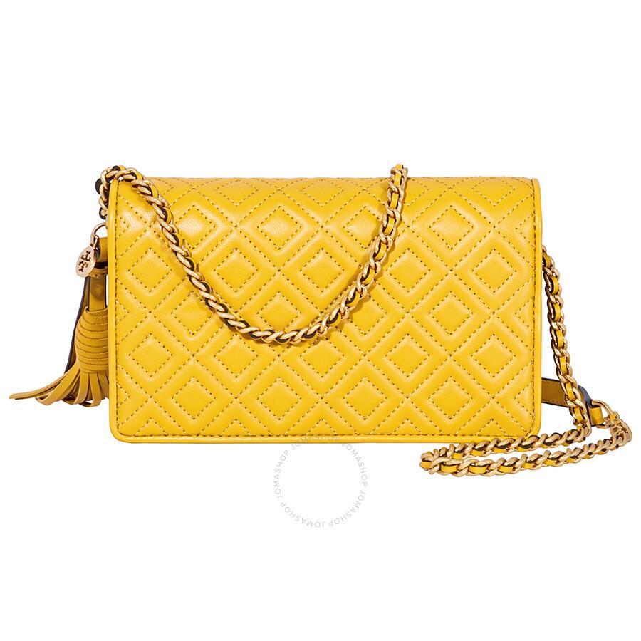 9ec7f158a4 Tory Burch Fleming Flat Wallet Crossbody Bag-Yellow - Tory Burch ...