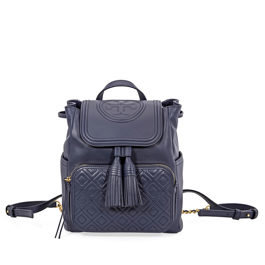 cd7a7dfa9c3 Tory Burch Fleming Leather Backpack- Royal Navy Item No. 45143-403