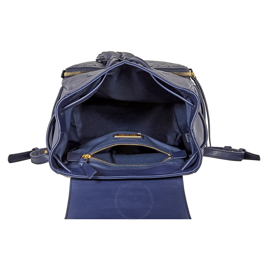11bd8bfdda52 Tory Burch Fleming Leather Backpack- Royal Navy - Tory Burch ...