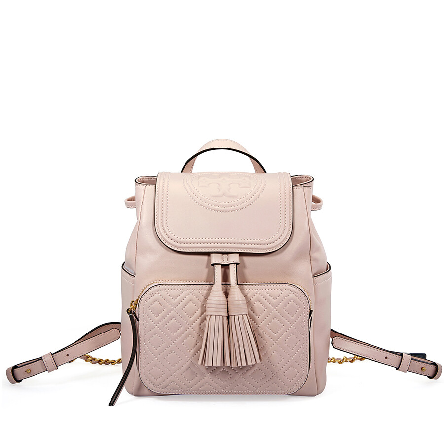 bbad1e40bc1b Tory Burch Fleming Leather Backpack- Shell Pink Item No. 45143-652