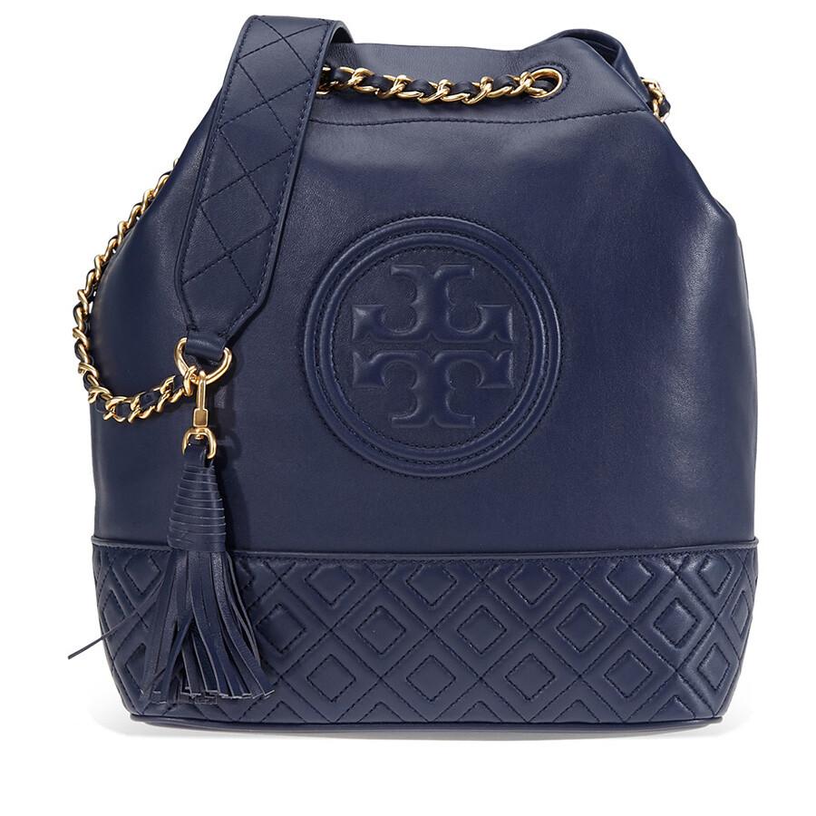 4f004818079 Tory Burch Block T Printed Small Bucket Bag Women S. Tory Burch Fleming  Leather Bucket Bag Royal Navy