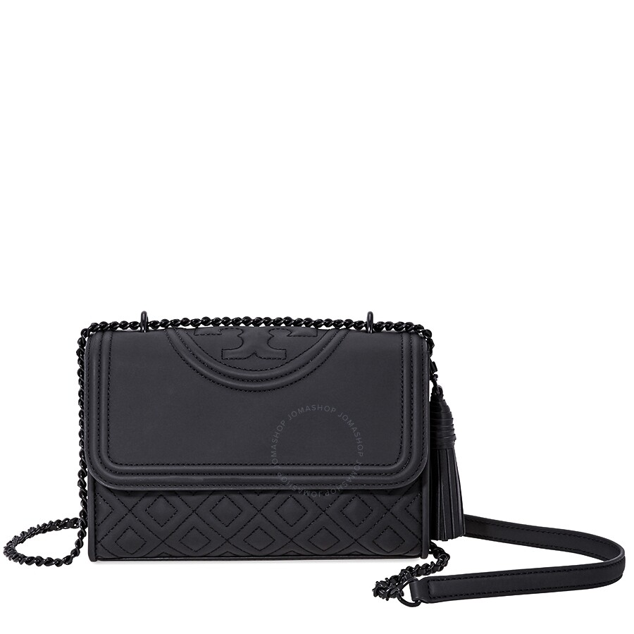 57af6199dbd2 Tory Burch Fleming Matte Small Convertible Shoulder Bag- Black Item No.  39927-001