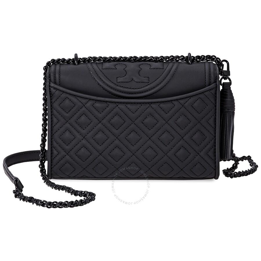 2db37aded0657 Tory Burch Fleming Matte Small Convertible Shoulder Bag- Black ...