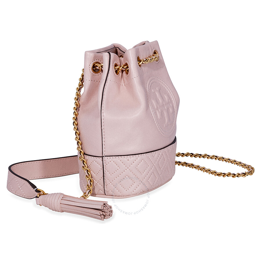 d071990b1 Tory Burch Fleming Mini Leather Bucket Bag- Pink - Tory Burch ...