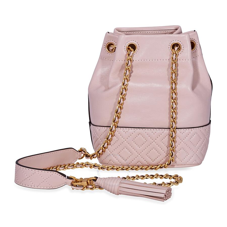 e44246d8e98a Tory Burch Fleming Mini Leather Bucket Bag- Pink - Tory Burch ...