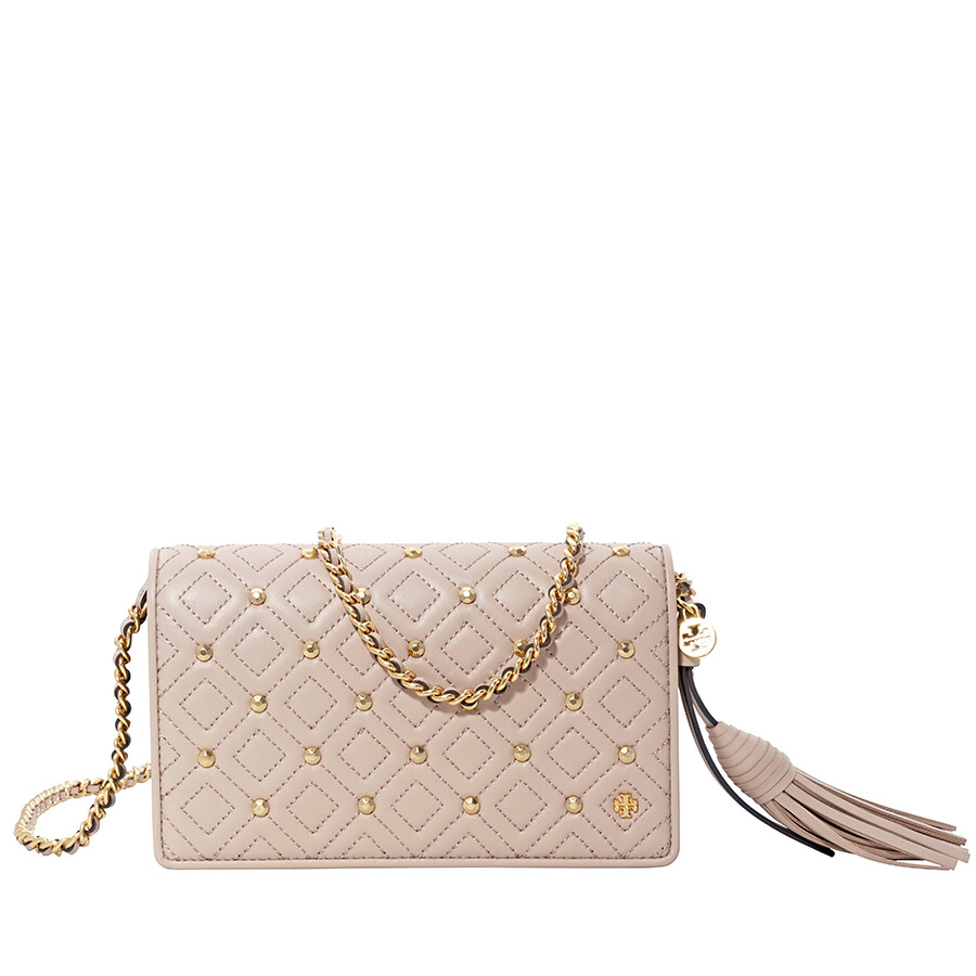 521072e3c Tory Burch Fleming Quilted Leather Crossbody Bag- Goan Sand Item No.  46452-927
