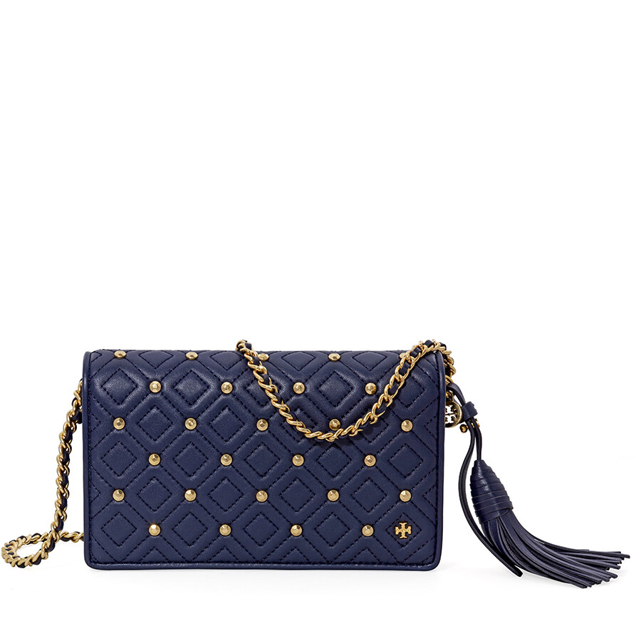 52d37b4074b8 Tory Burch Fleming Quilted Leather Crossbody Bag- Royal Navy Item No.  46452-403