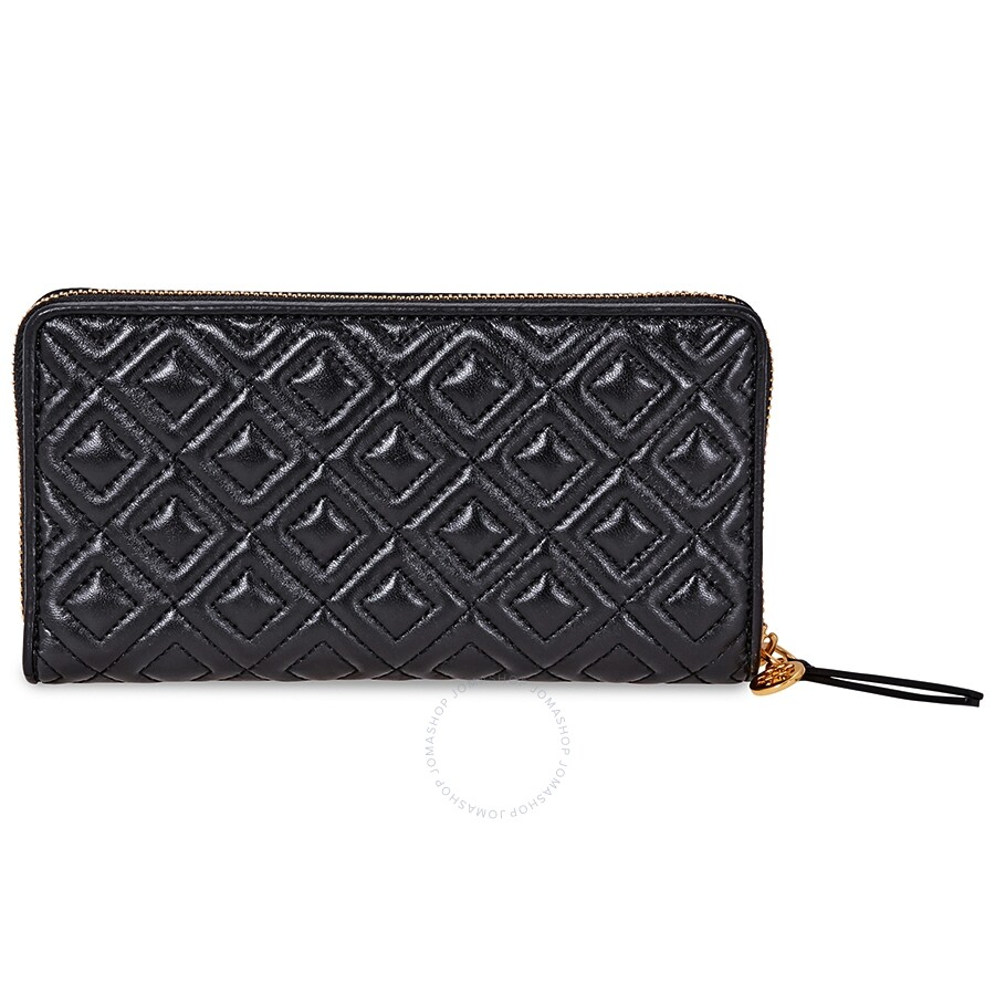 59b2d04611957 Tory Burch Fleming Quilted Zip Continental Wallet- Black - Tory ...