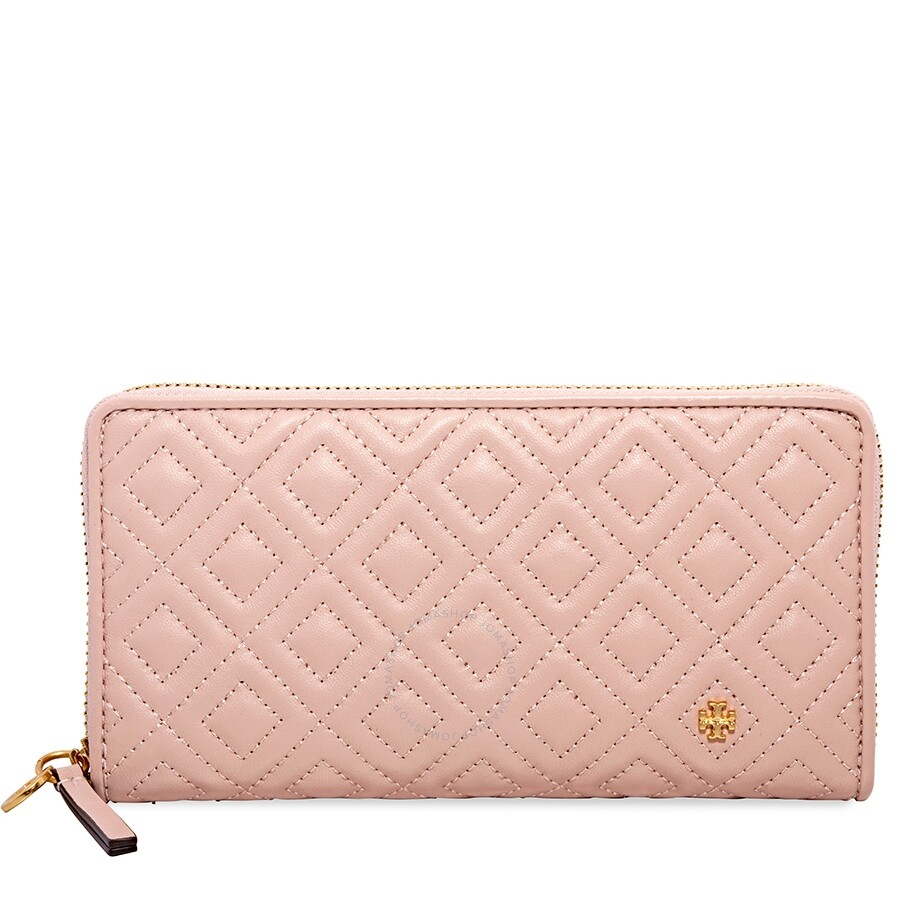 d11c80f72c Tory Burch Fleming Quilted Zip Continental Wallet- Shell Pink Item No.  46542-652