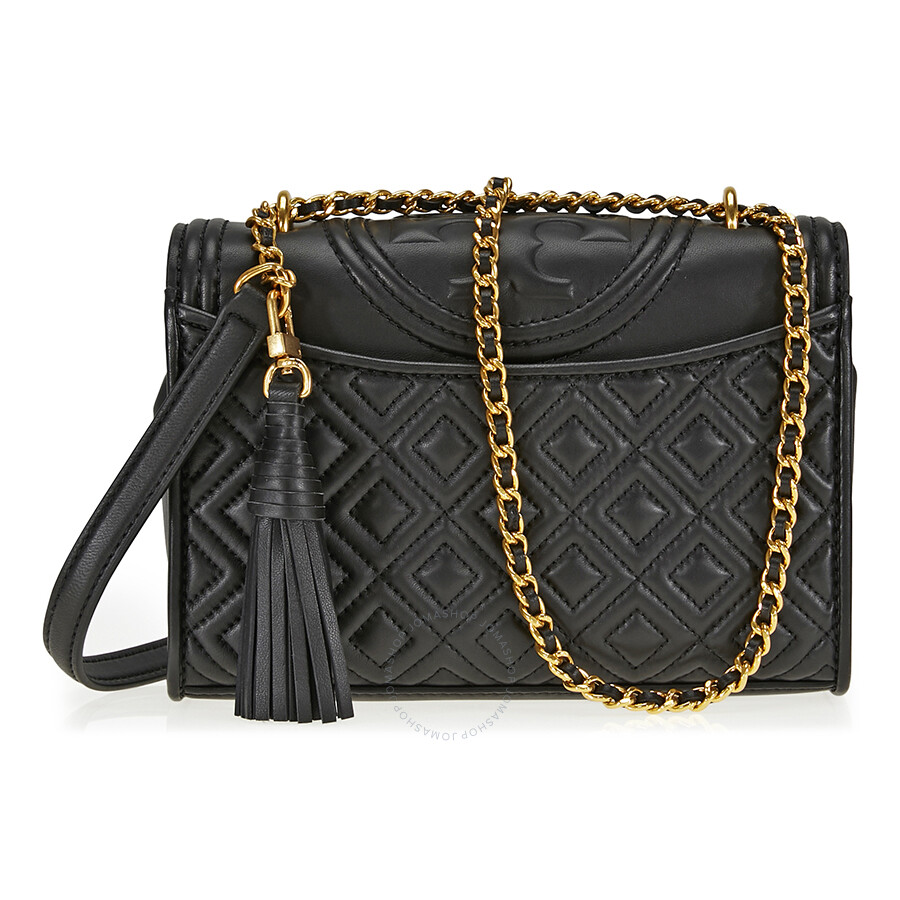 4652eced3d6e Tory Burch Fleming Small Convertible Leather Shoulder Bag - Black ...