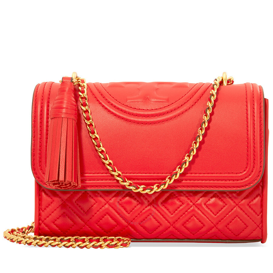 4116640ad6e0 Tory Burch Fleming Small Convertible Shoulder Bag - Exotic Red Item No.  43834-602