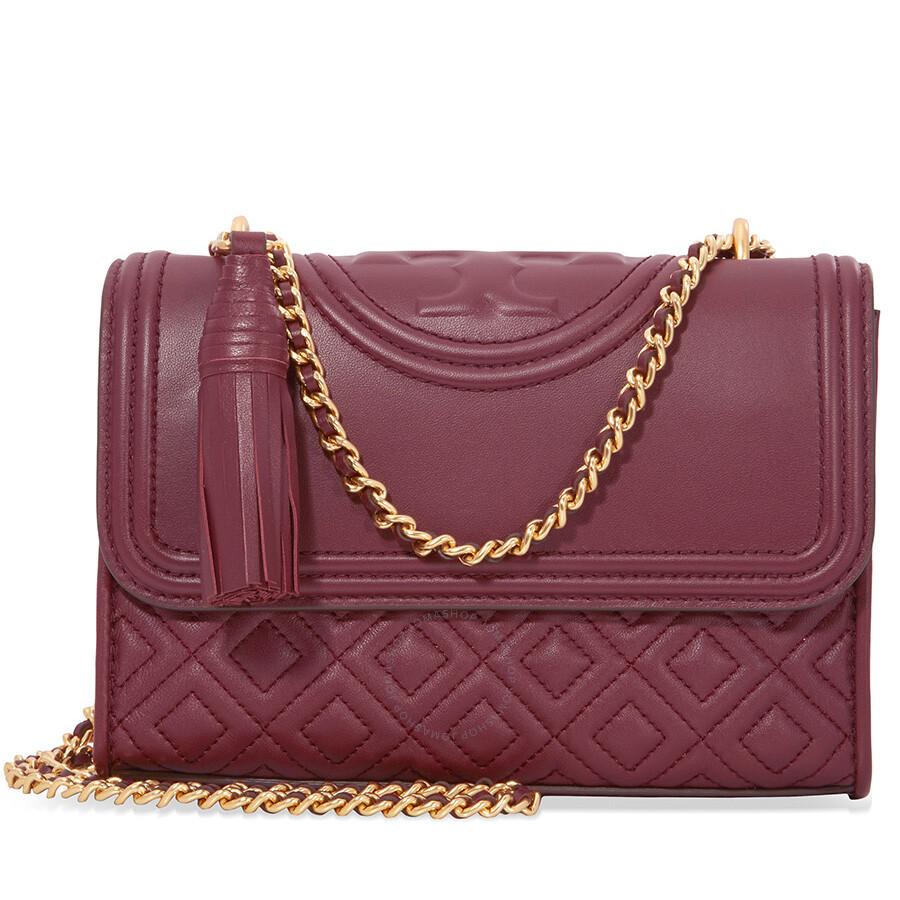 972d70f0759 Tory Burch Fleming Small Convertible Shoulder Bag - Imperial Garnet Item  No. 43834-609