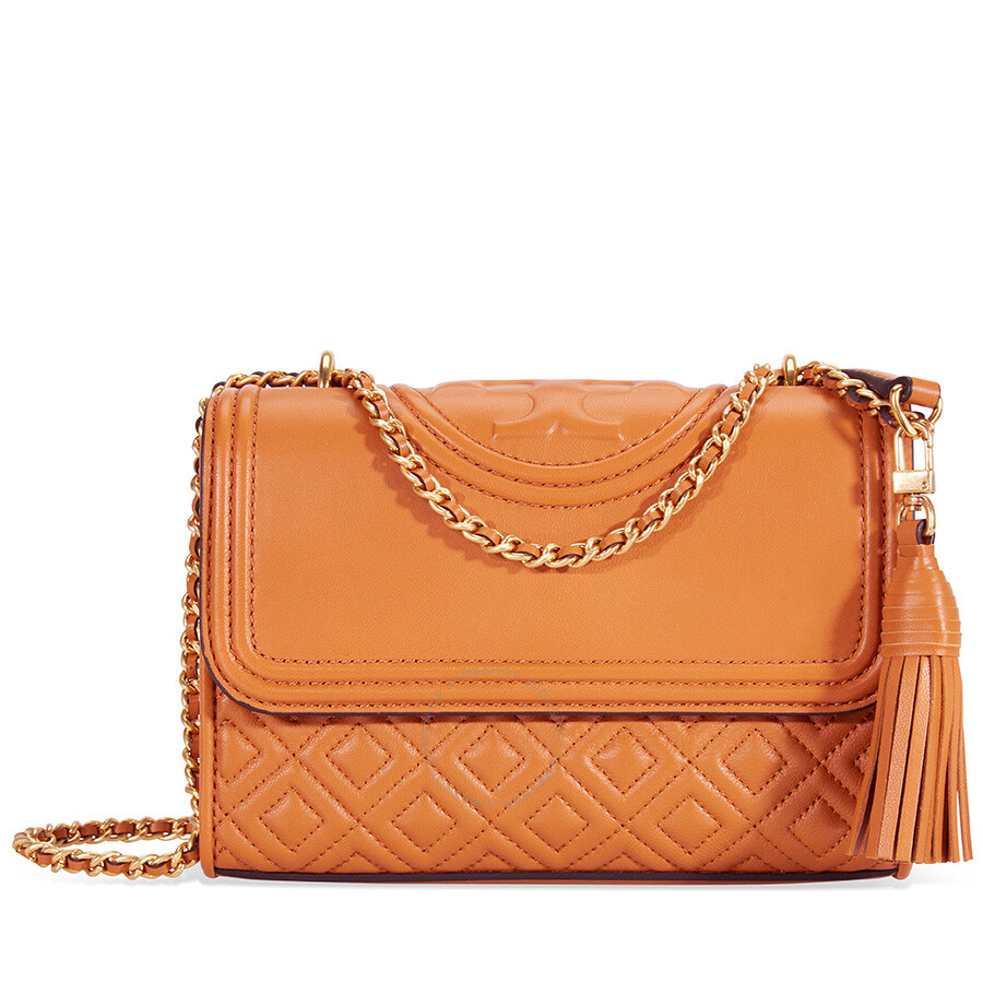 a4b8126c4d7d Tory Burch Fleming Small Convertible Shoulder Bag - Light Masala Item No.  43834-228