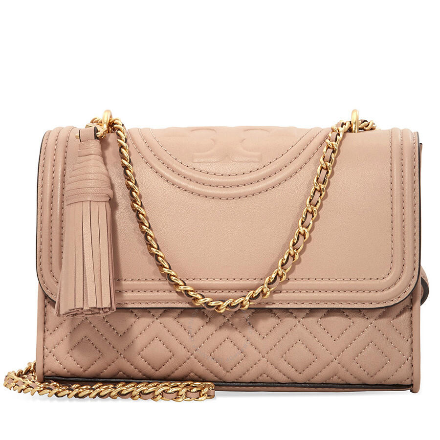c7105fdc26cc Tory Burch Fleming Small Convertible Shoulder Bag - New Mink Item No.  43834-670