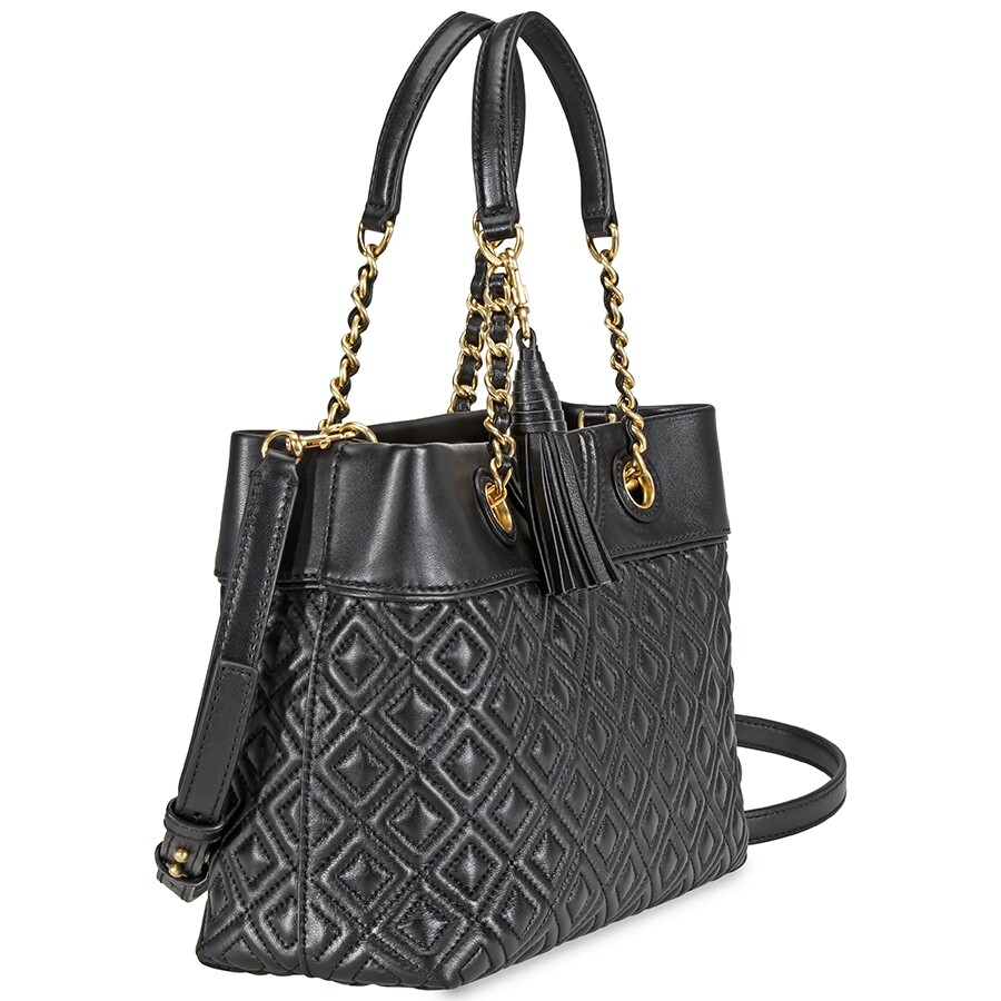 6bc4b2a26045 Tory Burch Fleming Small Tote- Black - Tory Burch - Handbags - Jomashop
