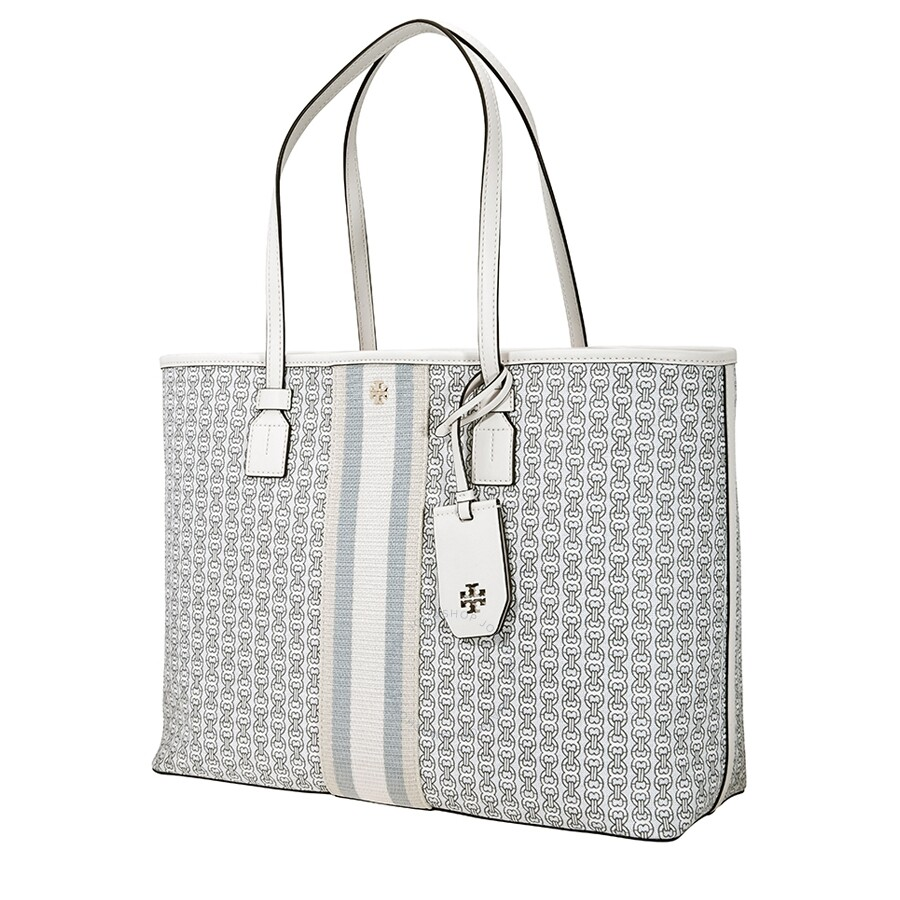 Tory Burch Gemini Link Canvas Tote New Ivory