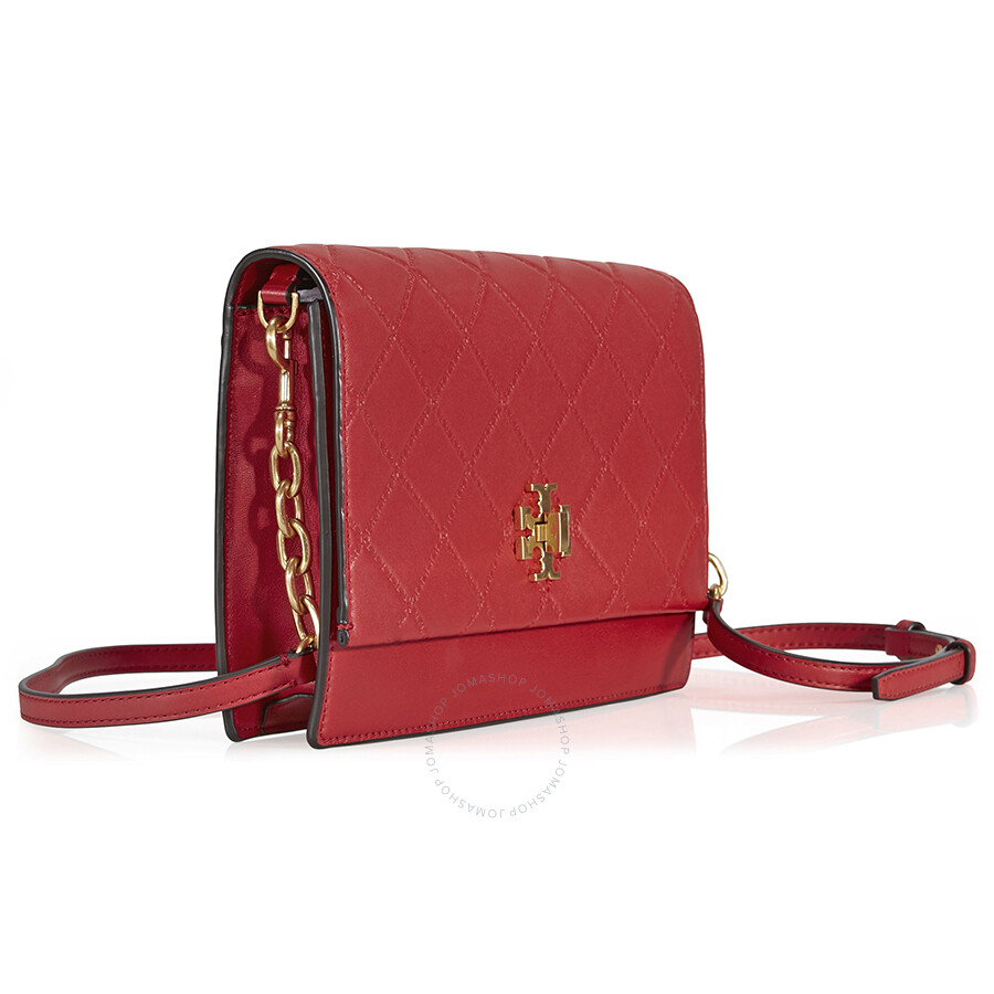 b226dcbfdfe Tory Burch Georgia Leather Crossbody - Liberty Red - Handbags - Jomashop