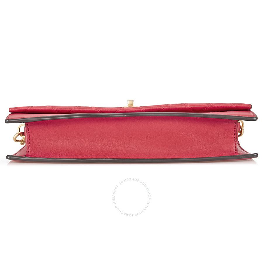 a281d3f712f4 Tory Burch Georgia Leather Crossbody - Liberty Red - Handbags - Jomashop