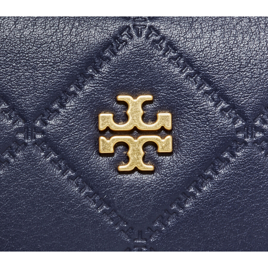 93d2f6fd1264 Tory Burch Georgia Small Lattice Stitched Makeup Bag- Royal Navy ...