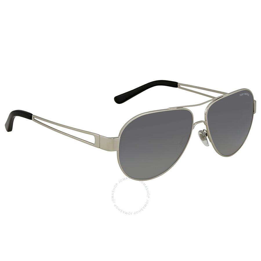 5581b2e510 Tory Burch Grey Gradient Aviator Polarized Sunglasses TY6060 3161T3 55 ...