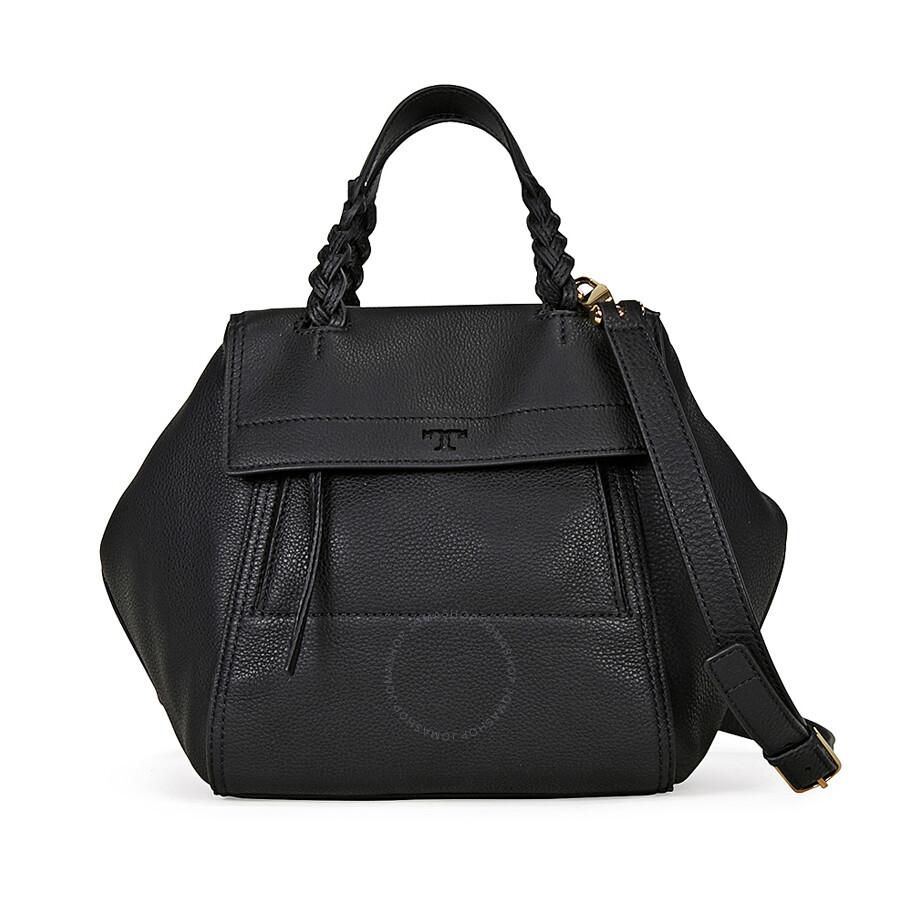 2cc2622a766b Tory Burch Half-Moon Small Satchel - Black - Tory Burch - Handbags ...