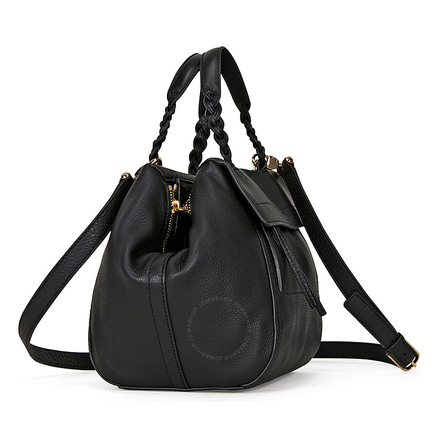 9464336d85e Tory Burch Half-Moon Small Satchel - Black - Tory Burch - Handbags ...