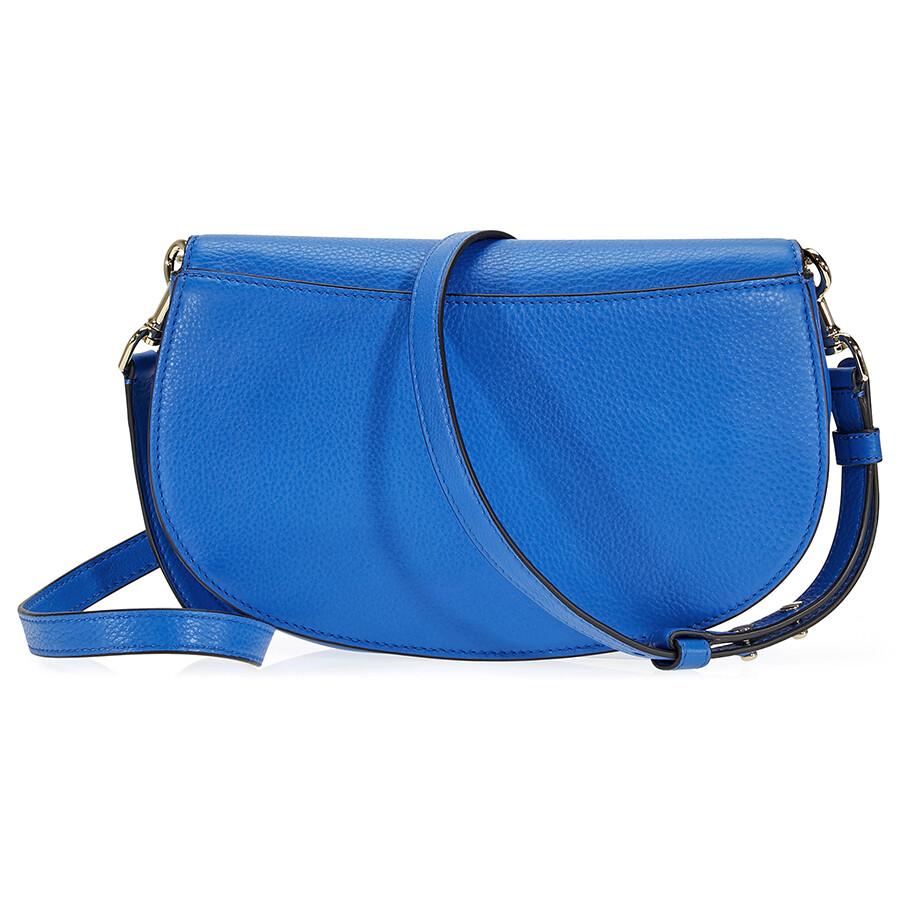 6d26116109c Tory Burch Jamie Leather Clutch - Galleria Blue - Tory Burch ...
