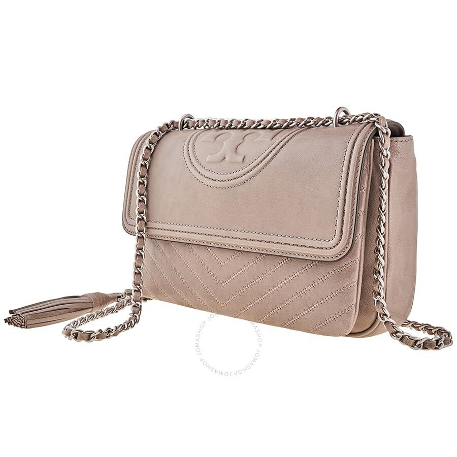 Ladies Grey Fleming Shoulder Bag by Tory Burch