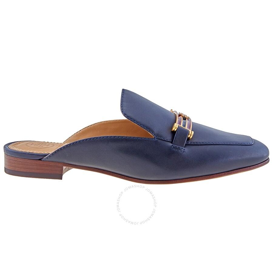 tory burch ladies loafer loafer navy amelia backless loafer  sandalen von caprice f�r frauen g�nstig