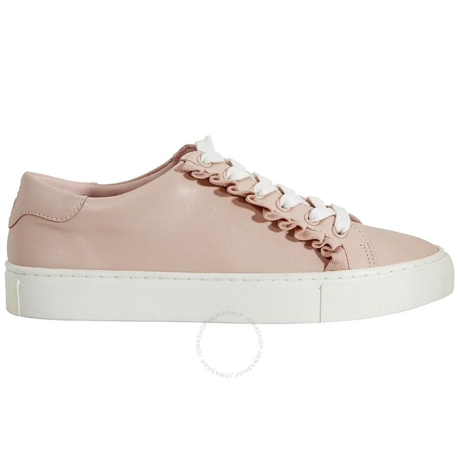 risparmi fantastici vivido e di grande stile fornire un'ampia selezione di Tory Burch Ladies Pink Ruffle Sneakers - Shoes - Jomashop
