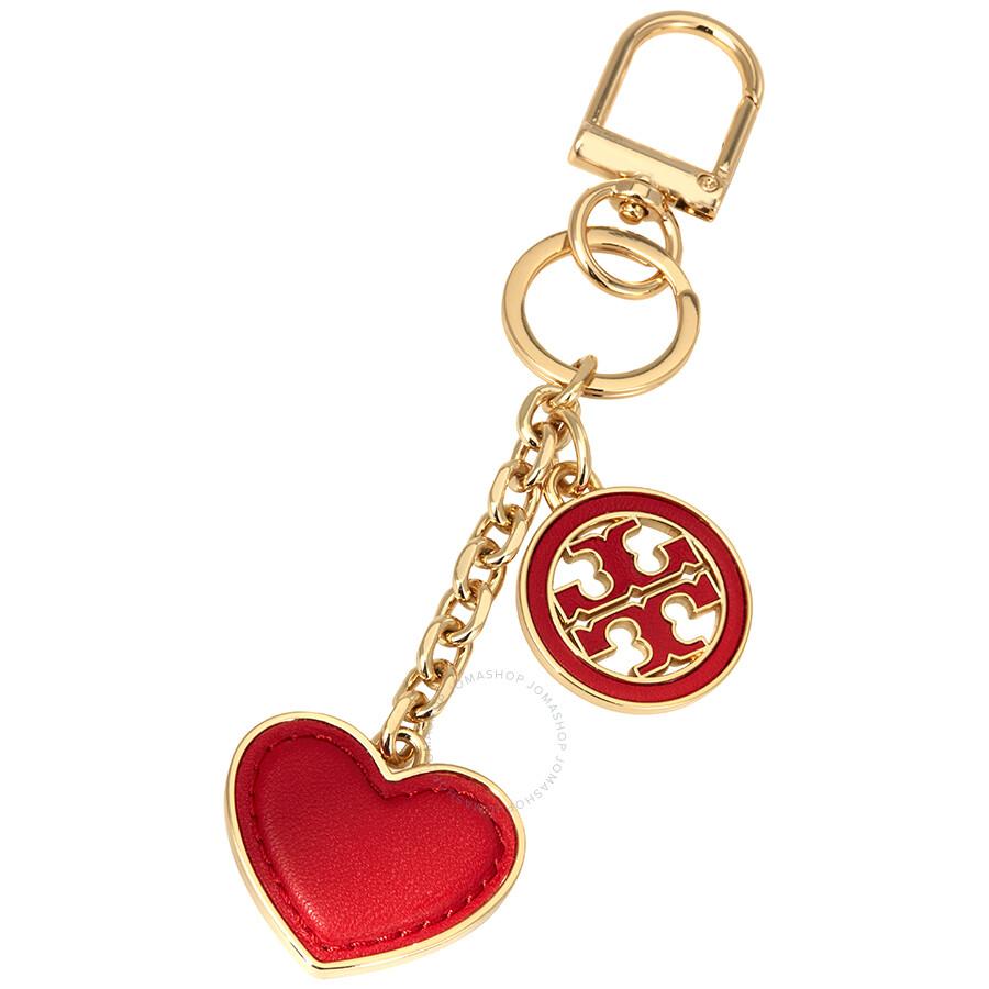 af87c71b2b32 Tory Burch Logo and Heart Key Fob-Exotic Red - Tory Burch - Handbags ...