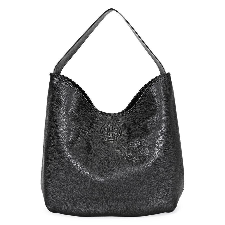Tory Burch Marion Hobo Slouchy Tote Bag Black