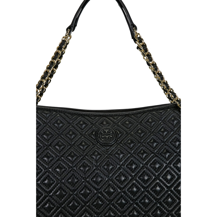 33cefc4718e7 Tory Burch Marion Quilted Leather Tote - Black - Tory Burch ...