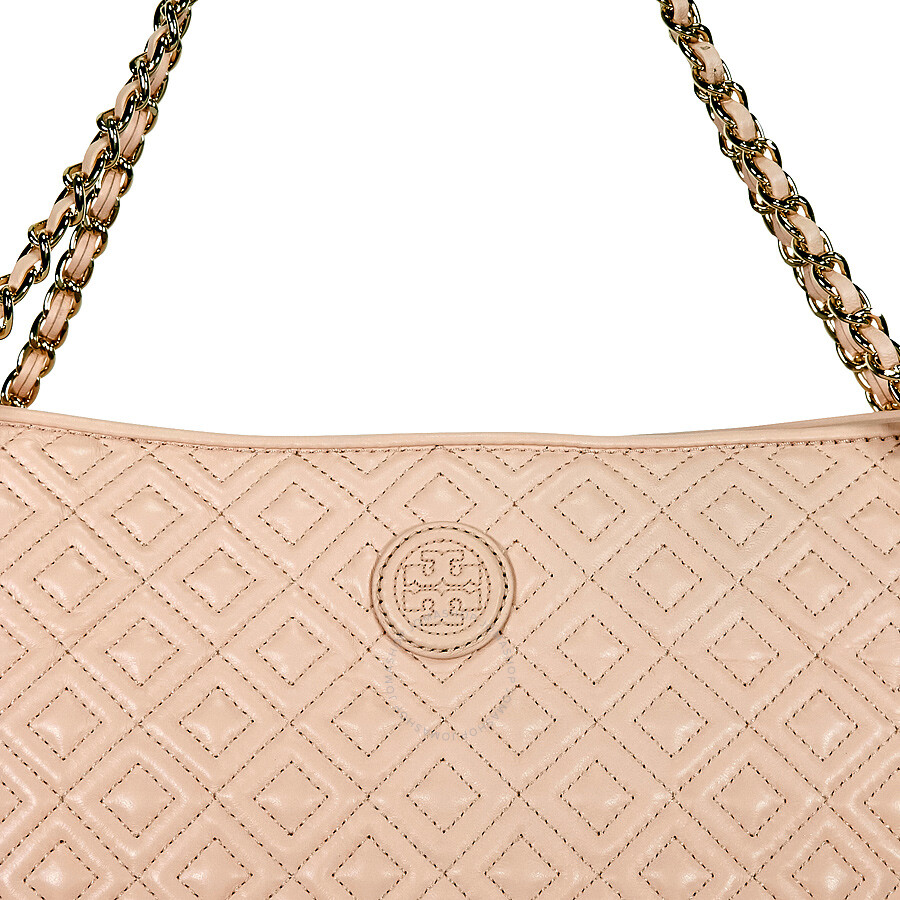 6baa5471141 Tory Burch Marion Quilted Leather Tote Pale Apricot. Fashion Seeker Tory  Burch Marion Quilted Shoulder Bag