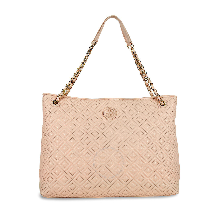 9f11fb1eca79 Tory Burch Marion Quilted Leather Tote - Pale Apricot - Tory Burch ...