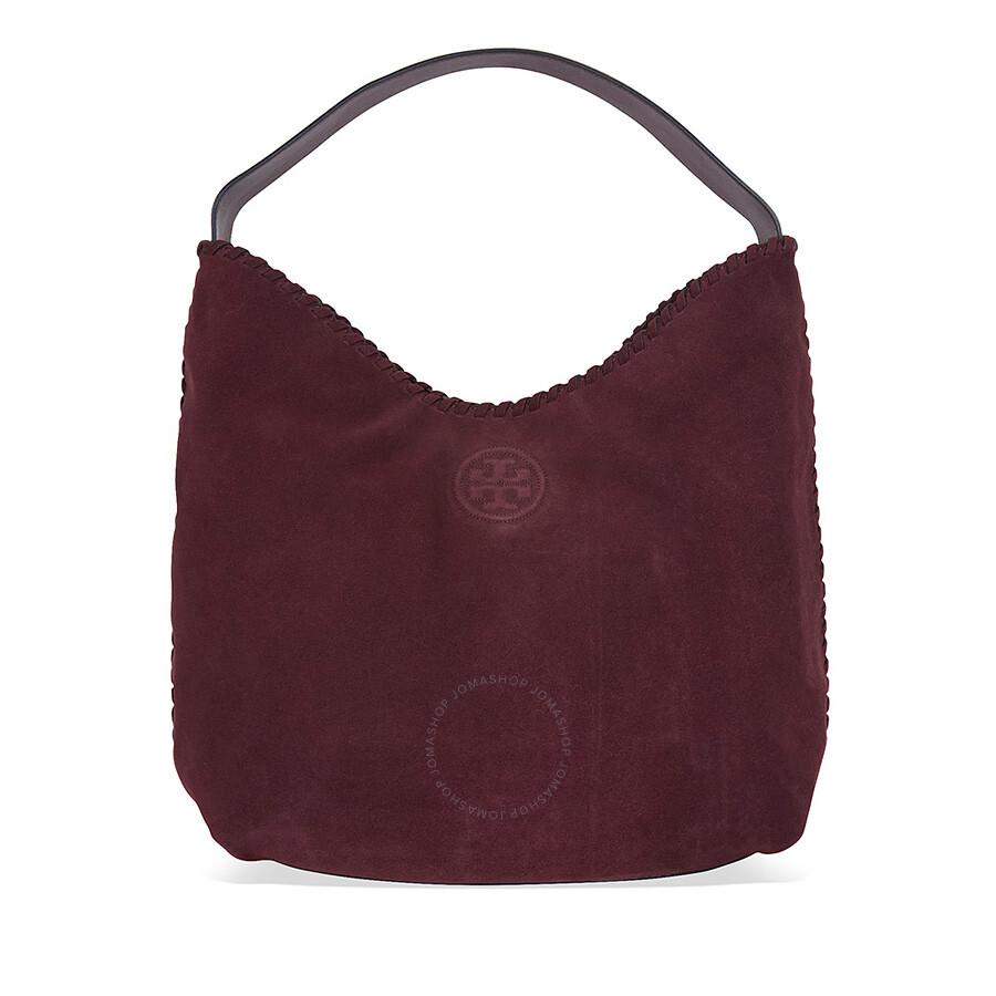 ba668d94fde1 Tory Burch Marion Suede Hobo Bag - Port - Tory Burch - Handbags ...