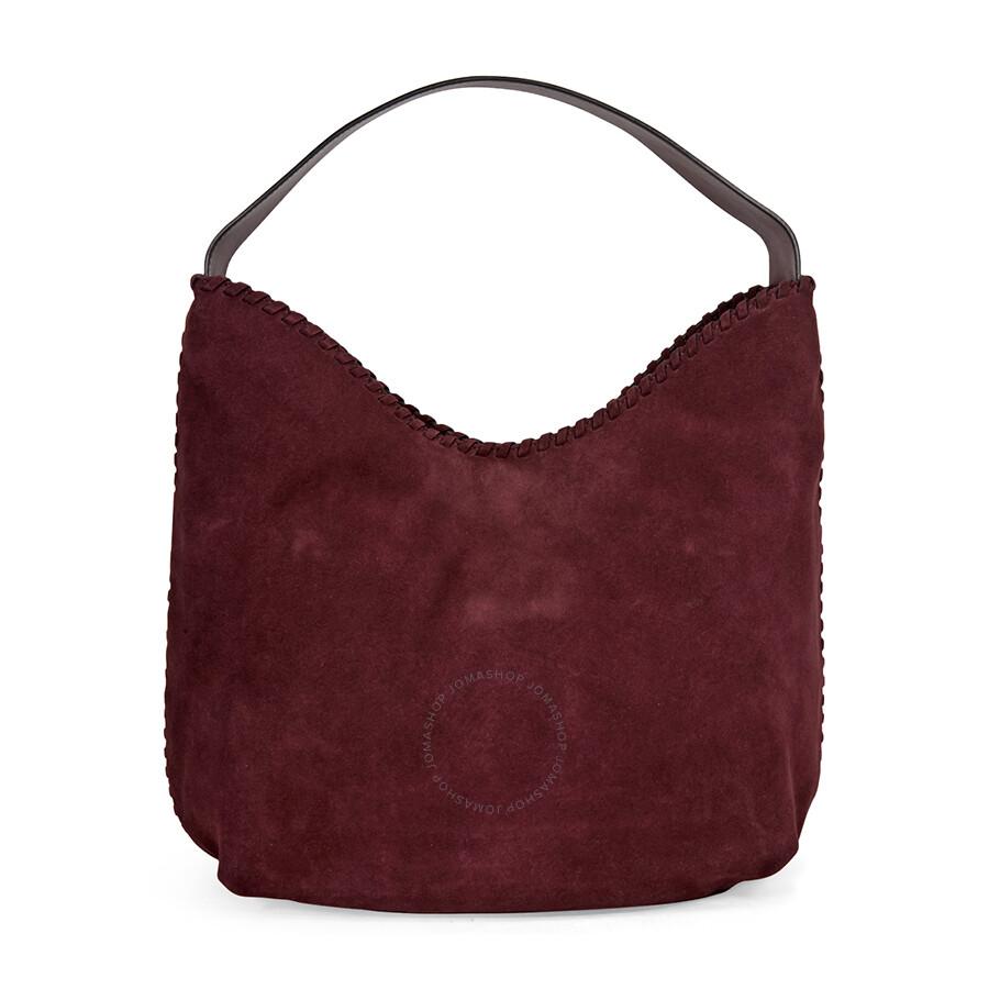 69d0927b4e51 Tory Burch Marion Suede Hobo Bag - Port - Tory Burch - Handbags ...