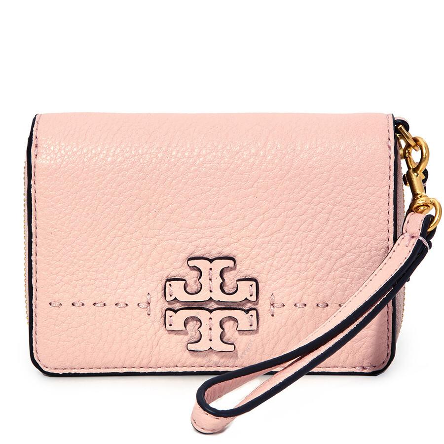74def28b6a00 Tory Burch McGraw Bi-Fold Leather Wallet - Pink Quartz - Tory Burch ...