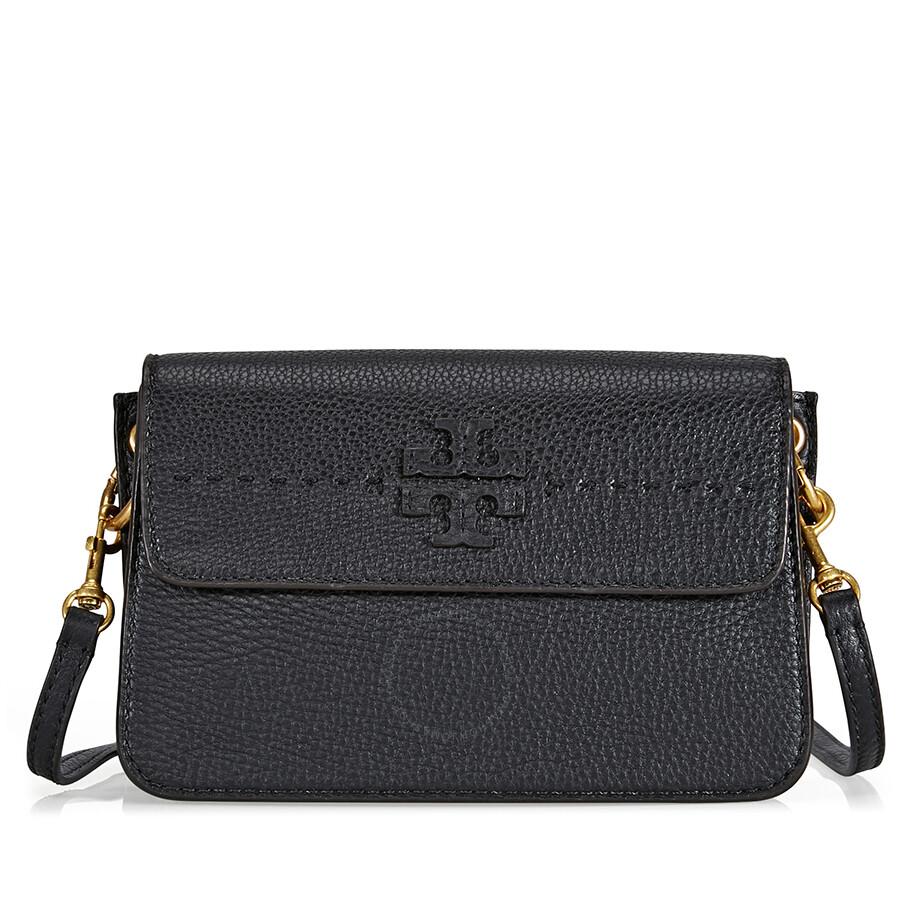 93d31faf7cf Tory Burch McGraw Leather Crossbody - Black - Tory Burch - Handbags ...