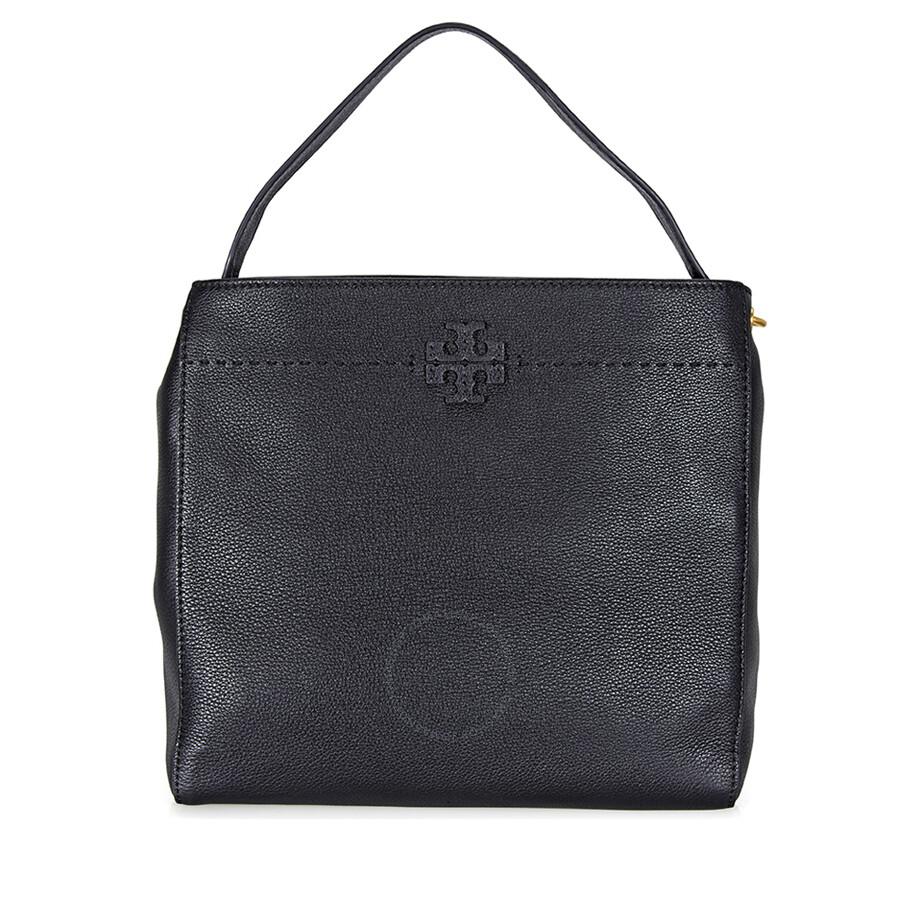 638c4605c780 Tory Burch McGraw Leather Hobo Bag - Black - Tory Burch - Handbags ...