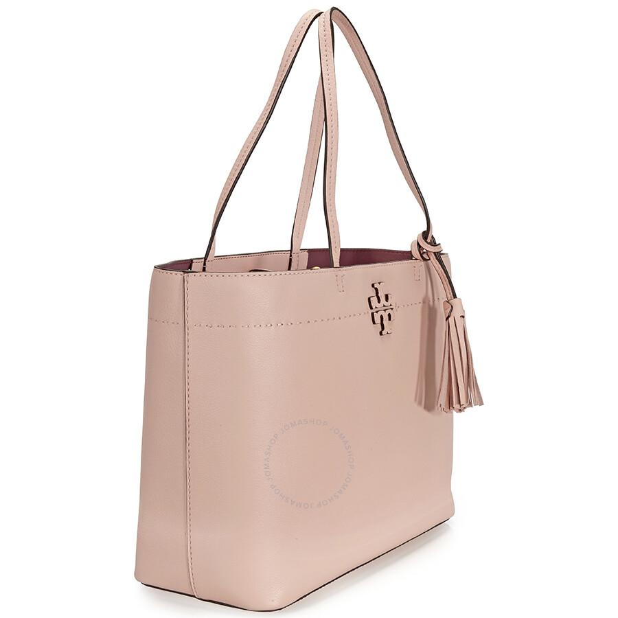 a91fd6e223a7 Tory Burch McGraw Leather Tote - Pink Quartz - Tory Burch - Handbags ...