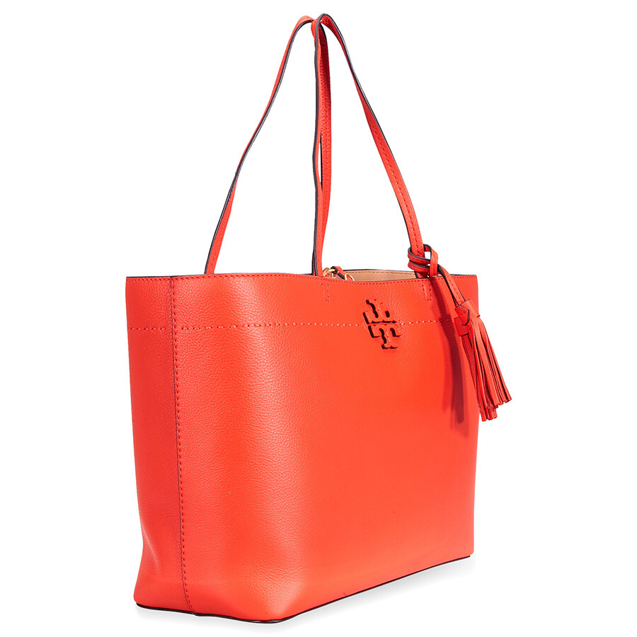 57dc042405a Tory Burch McGraw Leather Tote - Poppy Red - Tory Burch - Handbags ...