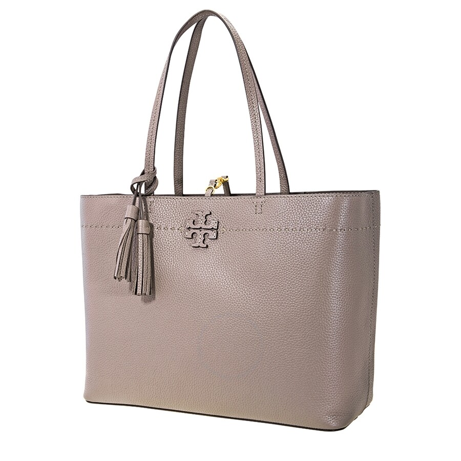 5d58e964b Tory Burch McGraw Leather Tote- Silver Maple - Tory Burch - Handbags ...