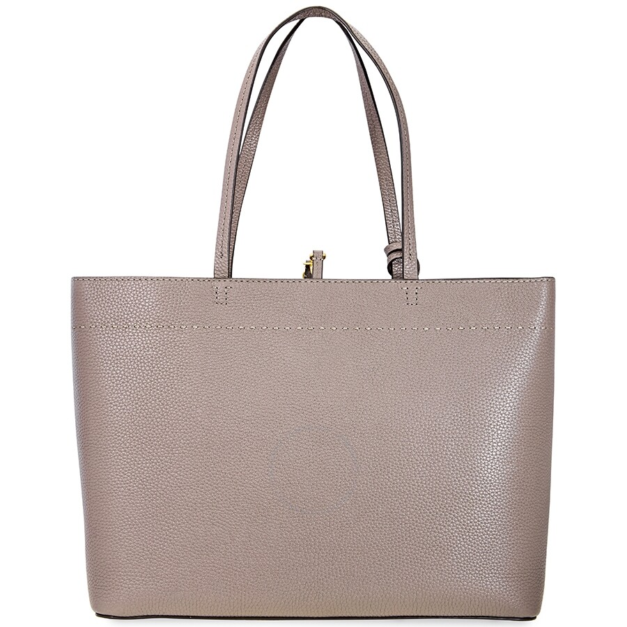Tory Burch McGraw Leather Tote- Silver Maple - Tory Burch - Handbags ...