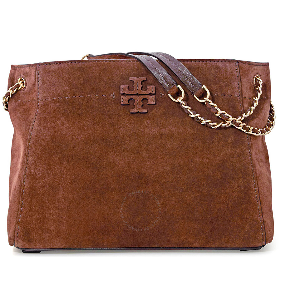 95b9b9d659a Tory Burch McGraw Suede Chain-Shoulder Slouchy Tote - Buffalo Item No.  41864-235