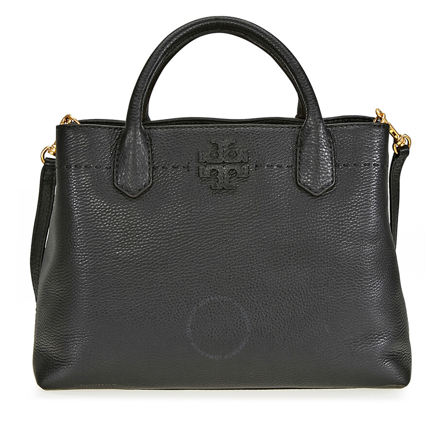 5654625d4954 Tory Burch McGraw Triple Compartment Leather Satchel - Black Item No.  40405-001