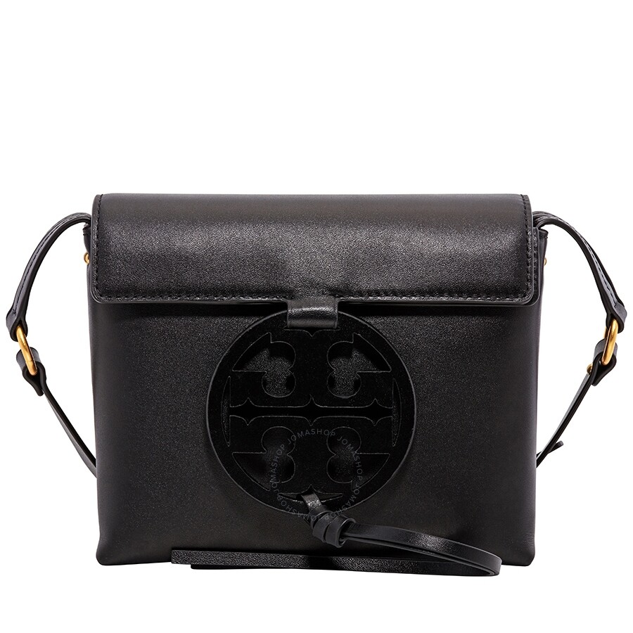 330a6b30d5caf6 Tory Burch Miller Leather Crossbody Bag- Black Item No. 50769-001