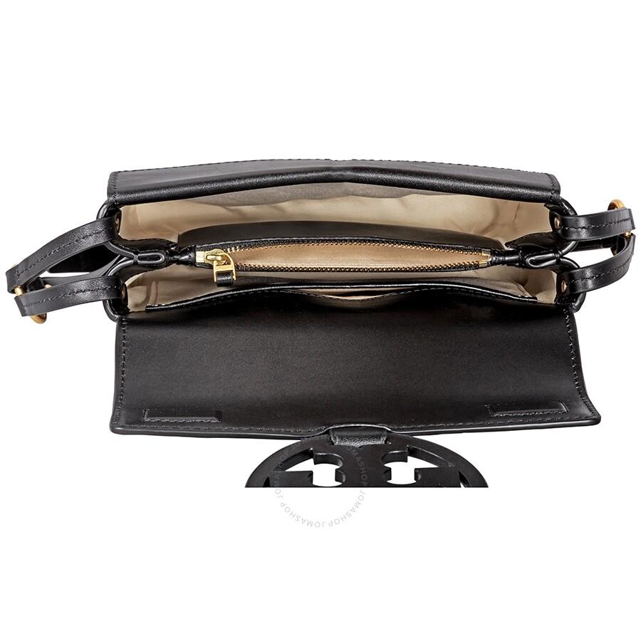 6aa0300617a50c Tory Burch Miller Leather Crossbody Bag- Black - Tory Burch ...